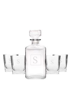 Cathy's Concepts Personalized Five-Piece Decanter Set - White
