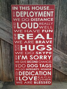 IN this House... We do DEPLOYMENT subway art by stickwithmevinyl, $28.00