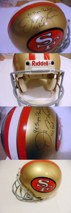 Helmets 27276: Joe Montana Autographed Helmet F S Pro Line Riddell The Only One Of Kind Cert -> BUY IT NOW ONLY: $2216 on eBay!