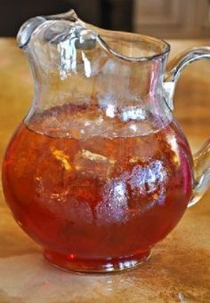 "True Southern Sweet Tea recipe....I have been craving this FOREVER!! Can I get a ""YUM YUM""? LOL I'm so weird...haha"