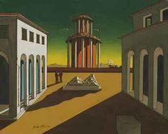 Piazza d'Italia - Giorgio De Chirico (1913) Oil on Canvas 25 x 35.2 cm