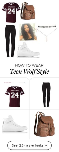 """Stilinski"" by oliviajh on Polyvore featuring J Brand, Converse, H&M and Wet Seal"