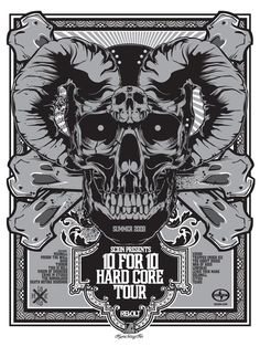 Rock and Roll Band Poster typography Tour Posters, Band Posters, Sick Tattoo, Blue Tattoo, Rock And Roll Bands, Skull Design, Creative Sketches, Skull And Bones, Typography Poster