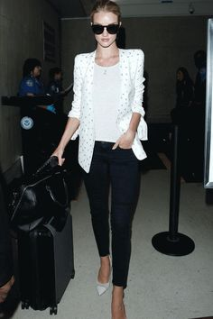 Rosie Huntington-Whiteley Nails Airport Chic