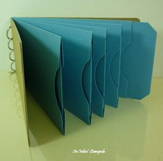 Chipboard AlbumKraft and Blue Pocket Tag by aninkinstampede, $5.00