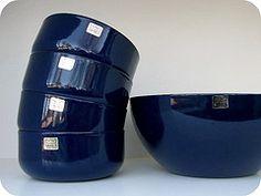 Arabia Finel blue set 1960-70s