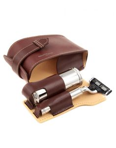 d2bbed9141 Fat Buddha Store - leather travel shaving kit  fathersday  gift Leather  Crafts