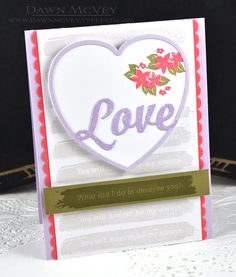 Love Card by Dawn McVey for Papertrey Ink (December 2016)