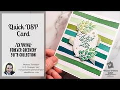 Hello Kre8tors and welcome to another Ink. Stamp. Share. Blog Hop! Today I'm sharing my Quick DSP Card using the Forever Greenery Suite Collection. These cards can be made quickly and they are relatively flat, which is great for mailing! Be sure to scroll down to the bottom of the post and click that Next… Fern Images, Card Tutorials, My Stamp, Some Fun, Your Cards, Thank You Cards, Greenery, Stampin Up, Make It Yourself