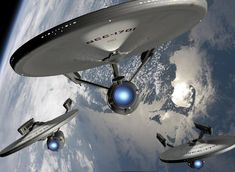 """Star Trek Bridge Commander pics """"Enterprise to the Lexington and Yorktown. We are moving out"""" Constitution class by Michael Wiley Background by NASA Als. Move Out Star Wars, Star Trek Tos, Star Trek Voyager, Star Trek Enterprise, Akira, Star Trek Bridge, Uss Yorktown, Uss Enterprise Ncc 1701, United Federation Of Planets"""