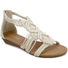 06ad82ee3 OLIVIA MILLER Natural Crochet Cosette Sandal ( 17) ❤ liked on Polyvore  featuring shoes