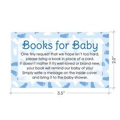 """Here is a wonderful and fun way to help build a library for a new baby. This set includes 20 book request insert cards that each measure 3.5"""" x 2"""". A sweet way to request children's books for your bab"""