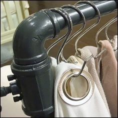 This Grommeted Fabric Sample S-Hook Hanger examples includes some of the largest grommet I have seen, for ease of replacement swatches S-Hook Hangers Fabric Samples, Retail Design, Hooks, Hanger, Closet, Inspiration, Fabric Swatches, Hangers, Armoire