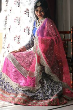 Pink and blue lehenga   Indian wedding clothes