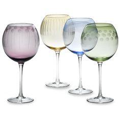 colorful stemware | Color Bowl Wine Glasses - China Glassware,Glass
