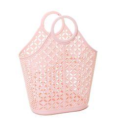 Large Basket spirit vintage 60 light pink color Amelia
