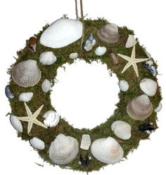 How to make Wreath - Seashells  - DIY Craft Project from Craftbits.com