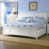 Found it at Wayfair - Kentwood California King Panel Bed with Storage in White