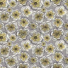 Flowers Grey Design by Nikky Starrett to license at Pattern Bank!