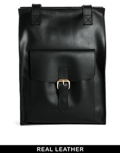 ASOS Vintage Style Leather Backpack