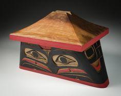 Eagle Canoe Bentwood Box by Bruce Alfred, Kwakwaka'wakw artist (W130901)