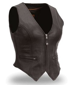 First Manufacturing Co. Women's  Fitted Leather Vest