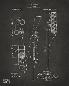 Ithaca 37 Drawing - 1915 Ithaca Shotgun Patent Gray by Nikki Marie Smith