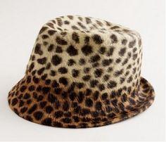J. Crew leopard print fedora