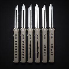 Check out these single action OTF knives! The Asheville Steel Paragon Estiletto.
