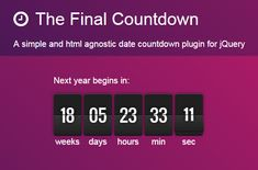 Countdown jQuery Plugin