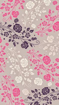 Wallpaper iPhone background - on We Heart It Wallpaper World, Flower Wallpaper, Cool Wallpaper, Mobile Wallpaper, Pattern Wallpaper, Flower Backgrounds, Phone Backgrounds, Wallpaper Backgrounds, Iphone Hintegründe