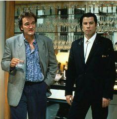 Quinton Tarantino × John Travolta in Pulp Fiction.  Cult classic.