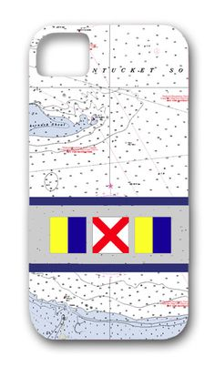 From our new line of personalized phone cases, this one spells your initials in corresponding nautical flags, $52. #nautical #preppy