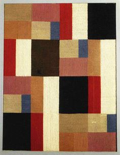 Tapestry by Sophie Taeuber-Arp  Not strip piecing, but SUCH awesome color and composition.