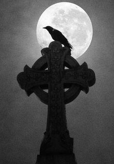 Moonlight Crow by Anne Marie McCaffrey. Original in colour. ☀