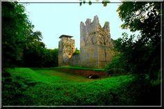 Perdu au milieu de la forêt, la construction fortifiée de Thol est le symbole parfait du château fort du Moyen Âge. 4 tours carrées aux angles protégeant de petites courtines