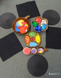 "Simple transient art with circles... from Rachel ("",) :: learn about shapes :: art using circles"