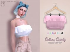 Lana CC Finds - Cotton Candy Frilly Top