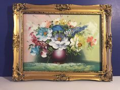 A personal favorite from my Etsy shop https://www.etsy.com/listing/225604797/italian-vintage-floral-oil-painting-with