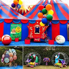 "Attention to the details turned a theme party into a ""Grand Circus Themed BirthdayExtravaganza""  Featured  @WeLoveLuxeLife  Creative Team: Photographer: @dinadouglass + #andrenaphoto  Design & Coordination: @soniasharmaevents  Florist: @theemptyvase  Design, Decor & Rentals: @revelryeventdesign  Rentals: @classicparty  Balloons: @ballooncelebrations  Lighting: @images_lighting  Catering: @chefwolfgangpuck  Entertainment: @zenarts  Cake: @specialcakesbyruben  Dessert Station: @chakodadesign…"