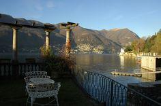 Blevio - View of lake Como from a villa terrace