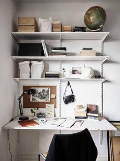 The Nordroom — Scandinavian apartment Home Office Space, Home Office Design, Home Office Decor, Cheap Home Decor, Diy Home Decor, Room Decor, Ikea Algot, Craftsman Home Interiors, Craftsman Kitchen
