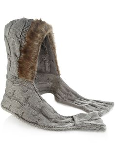 Cable Hat Scarf  http://shop.pixiie.net/cable-hat-scarf-grey/