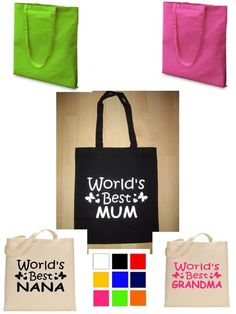 Details about Personalised Tote Bag, Shopping Bag, Cotton Bag ...