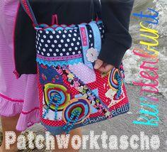 Handtasche - Gute Laune Tasche - KUNTERBUNT - ein Designerstück von hummelellli bei DaWanda