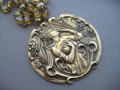 Art Nouveau Jewelry  Art Nouveau Necklace  by SilverTrumpetJewelry, $47.00