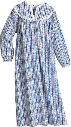 Lanz Mid Length Tyrolean Flannel Nightgown 2393481e4
