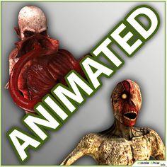 Max Skinless Crawler Genetic Monster - 3D Model