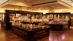À la Mère de Famille: Paris's oldest sweet shop has been in its original location for 250 years. While there are now other branches, this grand old store - with its tiled floor à l'ancienne and its vintage pendant lights like glassy gumdrops - is still the place to call home sweet home to the retro treats of times gone by: butterscotch roudoudous eaten out of a shell, marshmallow ropes, pretty violet bonbons for sucking on.