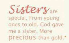 My greatest blessings have always been my Sister. She remains so, even now only in my!
